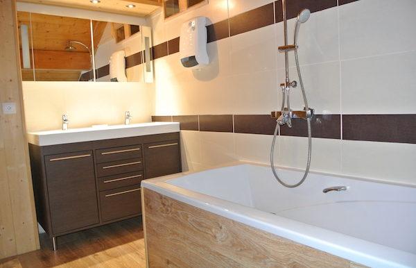 salle de bain haut chalet
